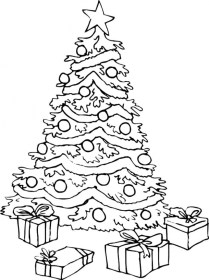 coloring christmas tree pages trees presents printable print drawing getdrawings printables giant popular gift getcolorings gifts getcoloringpages outline everfreecoloring