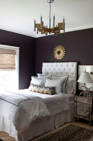 purple bedrooms walls paint decorating dark deep colors gray rooms bed contrast grey simple wheat sally well bedding royal romantic
