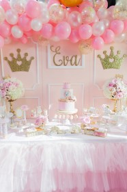 princess birthday party baby pink gold magical decorations themed parties birthdays shower themes 1st princesa karaspartyideas fiesta prettymyparty kara pretty