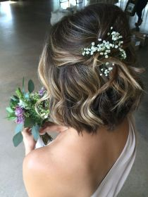 short hair hairstyle bridal formal hairstyles updo curly messy glamorous