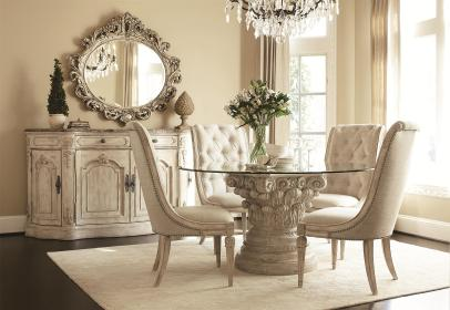 table base pedestal glass dining chairs luxury mirror crystal cabinet homesfeed meal