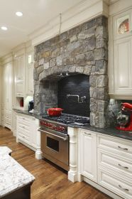 kitchen range hoods stove stone country french kitchens gas traditional hood cabinets cooking surrounds oven rustic stoves designs decor decorating