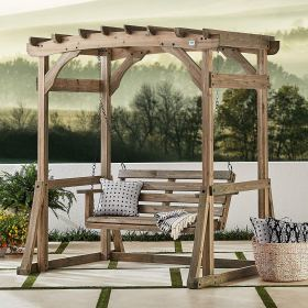 pergola swing swings porch stand outdoor odessa backyard discovery chairs claremont hanging simple person patio wooden chair arbor bed arched