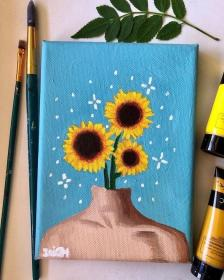 acrylic beginners paint canvas paintings simple aesthetic spare fill harunmudak drawing drawings trippy flowerhead foryou 1001 competitions aggregator architecture