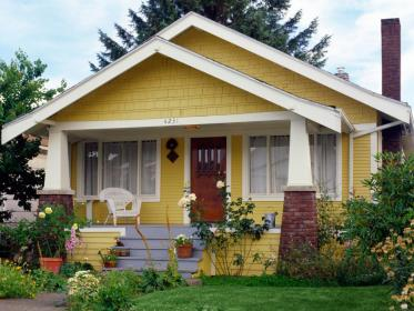exterior painting paint yellow colors cottage tips diy houses homes idea door story brick floor doors single residential match india