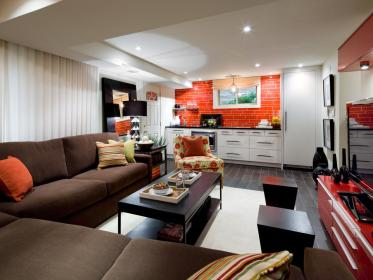 candice basement hgtv olson basements interior decorating chic cantina rooms designs layout spiced studio space