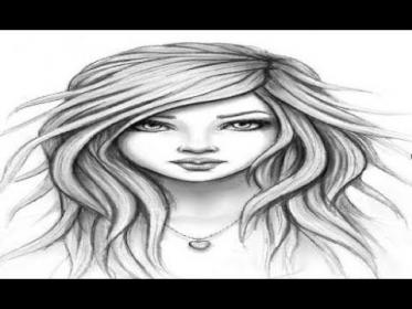pencil drawing sketch simple woman draw drawings sketches beginners paintingvalley