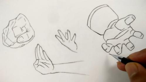 anime hands draw step tutorial characters