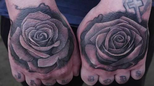 rose tattoos hand hands grey tattoo roses both amazing
