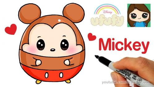 How to Draw Mickey Mouse Easy Disney Ufufy YouTube