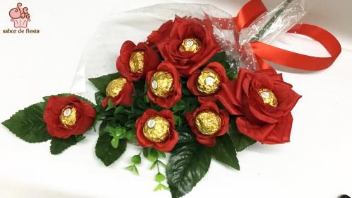 rosas chocolate bombones bouquet