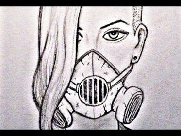 mask gas drawing graffiti portrait sketch character drawings graphite pencil clip paintingvalley agaclip