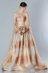dresses fall autumn copper colors colored gown theia bridal different gowns pink ball weddinginspirasi weddings bridesmaid dusty strapless inspirasi coppery