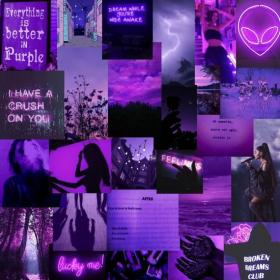 purple collage dark aesthetic vsco moody laptop wallpapers pastel desktop walls printable 45pcs bedroom computer quotes iphone rooms soft led