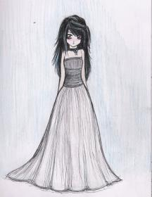 sketch anime drawing drawings deviantart dresses sketches outfit prom manga easy outfits traditional dres beginners gloom ruby google guardado desde