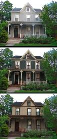 colors exterior paint stucco historic victorian colours homes schemes houses makeover curb oldhouseguy