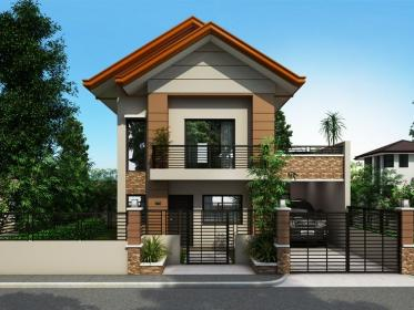 story narrow houses philippines lot floor simple plans