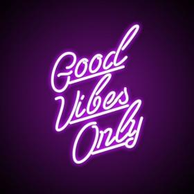 neon vibes purple quotes only aesthetic lights positive quote signs baddie vibe bedroom led its happy spread smile modern