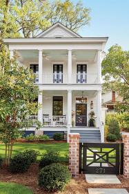 southern plans farmhouse exterior houses living porch homes paint build turnball lights park cottage soul colors plan porches southernhi narrow