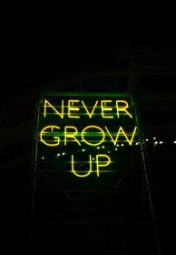 neon yellow sign grow never quotes led words light signs wallpapers growing vibes lighting instagram