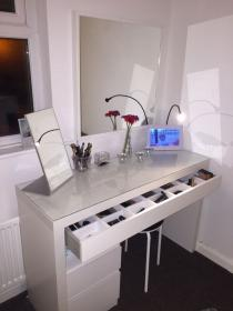 Image result for ikea does alex drawers fit under ikea