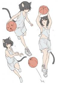 poses anime reference drawing basketball manga character sketch references things concept ball basketbal maid kitty desenho comments danbooru characters history