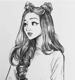 drawing pencil drawings sketches drowing girly realistic portrait cartoon anime dark