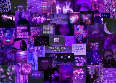 aesthetic purple collage laptop neon desktop iphone wallpapers backgrounds ios macbook hipster pattern simple skater