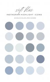 ig covers highlight solid highlights icons colors soft icon pastel palette colour stickers challenge journal vozeli aesthetic stories template paint