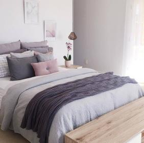 pastel bedroom decoration decor master room grey bedrooms interior light scandi aesthetic want copy rooms inspo pink bed stylishwomenoutfits spare