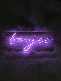 Boujee Neon Sign 18 inches Custom Handmade (With