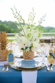 Golden Pineapple Elopement in North Carolina Tropical