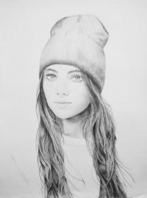 drawing realistic beanie drawings pencil sketches sketch swag draw woman illustration faces balalaika cool portrait sketching google sketchs hats featuring