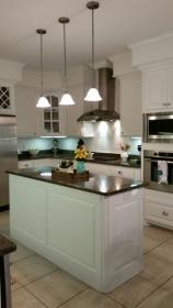 Our kitchen makeover Sherwin Williams Alabaster cabinets