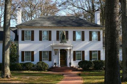 colonial brick revival painted daily homes houses saltbox anderson wordpress lessie