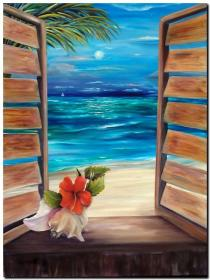 Image result for Beach Paintings for Beginners Easy