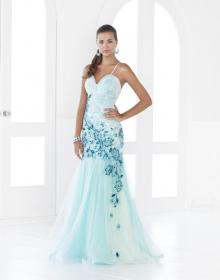 teal dresses prom blush caribbean gown pretty turquoise ombre beach accents gowns embroidery tulle sophisticated spaghetti weddings soft