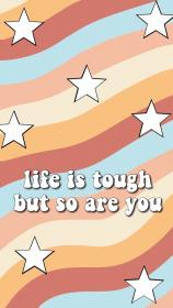 vsco aesthetic wallpapers star retro iphone pink words stars happy orange quotes tough quote peach motivation