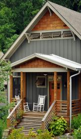 siding vertical exterior colored cabin pretty colors cottage davenport scalloped w2arch paint rustic houses architects wilson inc homes vital lake