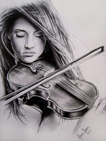 drawings google violin drawing pencil sketch playing pretty play instrument amazing