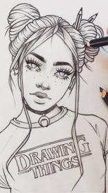 drawing drawings sketch sketches cool easy pencil doodle doodles inspirational рисунки pretty stitch meinmodell robin creative сохранено uploaded user источник