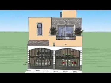 Casa en terreno 6x15 mts YouTube Building plans house