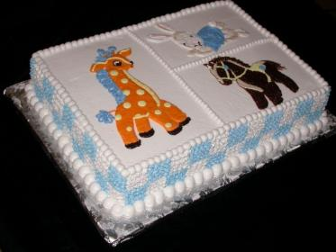 shower cake cakes sheet pasteles para cuadrados toys buttercream boys boy icing compliments cakecentral central decorated