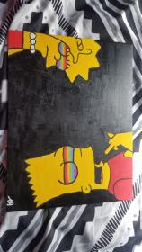trippy painting acrylic lisa bart easy aesthetic paintings simple rainbow canvas hippie eyes pencil colored beginners inspiration