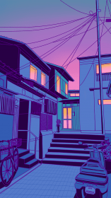 aesthetic anime pastel japan purple retro scenery surudenise japanese wallpapers night ty dear kawaii neon desktop cool backgrounds ame cannot
