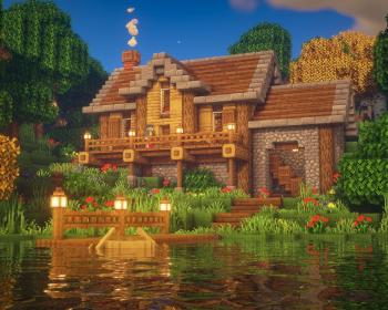 minecraft lake houses simple idea mansion cottage building amazing buildings