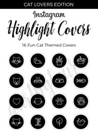 highlight instagram covers icons story cat icon stories highlights insta custom pack could cats gold haz designs foil template fun