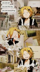 aesthetic denki kaminari wallpapers hero anime pantalla fondos haikyuu boku imagines collage аниме персонажи wallpapersalbum iphone ou wattpad imagem fofo