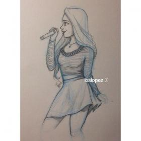 singing drawing itslopez drawings sketches dibujos pencil cool character cartoon laia sing sketch google easy instagram realistic amazing ve song