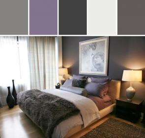 purple bedroom gray bedrooms grey colors paint decor violet master via stylyze allmodern designed dark designs inspired indulgy eclectic wall
